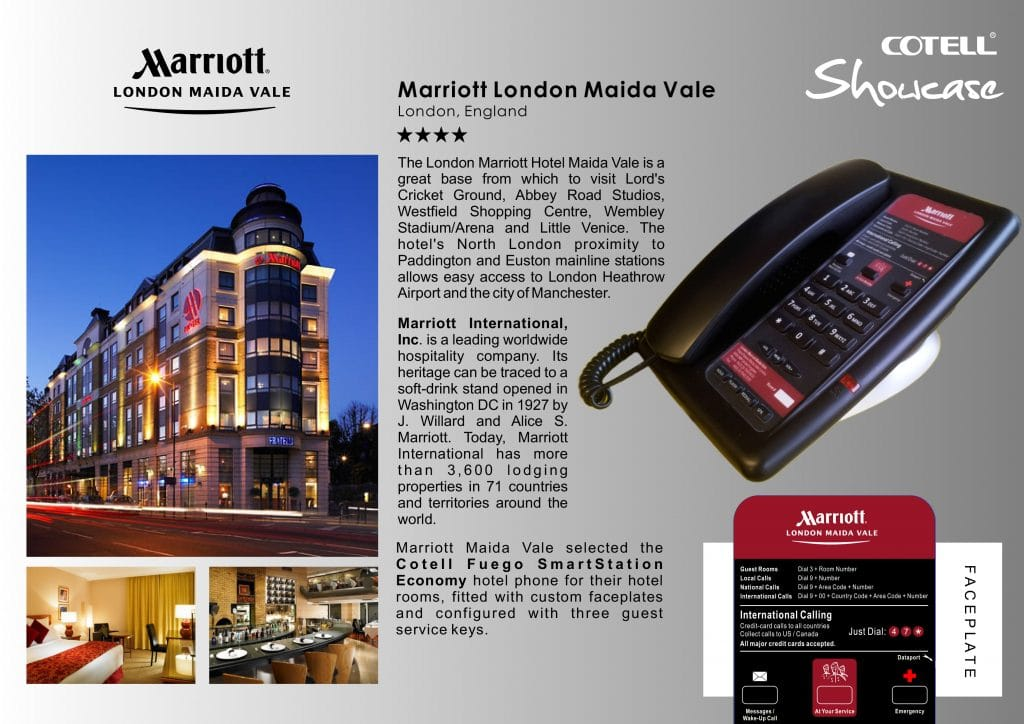 Marriott London Maida Vale Hotel Technology International Case study