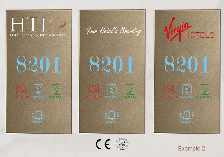 Hotel Room Door Plates